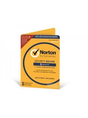 Symantec Norton Security Deluxe 3.0 Nordic 1 år 1-Bruker 5-Enheter #Attach